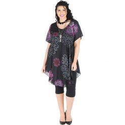 Odzież damska: Sukienka w kolorze różowo-czarno-szarym
