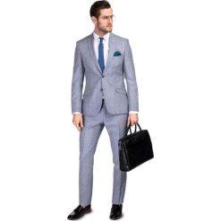 Garnitur LEONARDO GXSS900089. Niebieskie garnitury marki Giacomo Conti, z wełny. Za 999,00 zł.