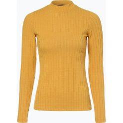 Review - Damska koszulka z długim rękawem, żółty. Szare t-shirty damskie marki Review, l, z tkaniny, z okrągłym kołnierzem. Za 79,95 zł.