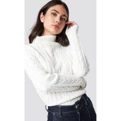 Rut&Circle Sweter z golfem - White. Białe swetry oversize damskie Rut&Circle, z dzianiny. Za 121,95 zł.