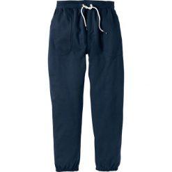Spodnie dresowe bonprix ciemnoniebieski. Niebieskie spodnie dresowe męskie bonprix, z dresówki. Za 69,99 zł.