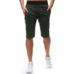 Spodenki i szorty męskie: Spodenki dresowe męskie zielone (sx0620)