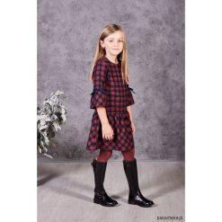 Sukienka Judyta. Czerwone sukienki dziewczęce z falbanami Pakamera, w kratkę, z tkaniny. Za 136,00 zł.
