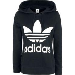 Bluzy damskie: Adidas Trefoil Hoodie Bluza z kapturem damska czarny/biały