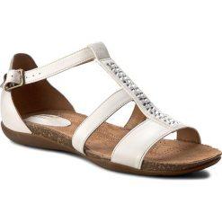 Rzymianki damskie: Sandały CLARKS – Autumn Fresh 261259094 White Combi Leather