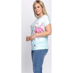 T-shirty damskie: Jasnoniebieski T-shirt Words Like Bullets