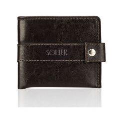 Portfele męskie: Elegancki brązowy skórzany męski portfel SOLIER  LILA
