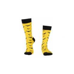 Skarpety BATMAN. Żółte skarpetki męskie Wolne skarpetki, w kolorowe wzory, z bawełny. Za 12,00 zł.