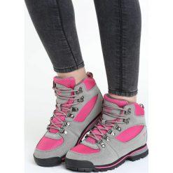Szaro-Różowe Buty Trekkingowe My Expedition. Czerwone buty zimowe damskie Born2be, z materiału, z okrągłym noskiem, na obcasie. Za 89,99 zł.