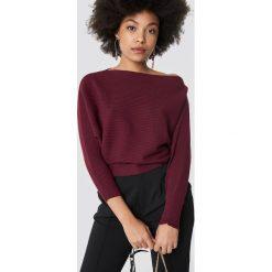 Trendyol Sweter z odkrytymi ramionami - Burgundy. Szare swetry klasyczne damskie marki Vila, l, z bawełny, z okrągłym kołnierzem. Za 80,95 zł.