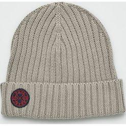 Pepe Jeans - Czapka. Szare czapki zimowe męskie Pepe Jeans, z bawełny. W wyprzedaży za 84,90 zł.
