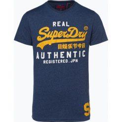 Superdry - T-shirt męski, niebieski. Niebieskie t-shirty męskie Superdry, m. Za 149,95 zł.