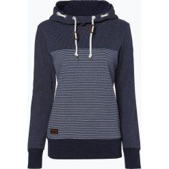 Ragwear - Damska bluza nierozpinana – Nuggie Sweat B, niebieski. Niebieskie bluzy z kapturem damskie marki Ragwear, m, w kropki. Za 179,95 zł.