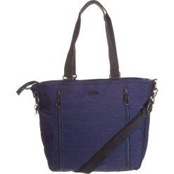 """Torebka """"Lucetta' w kolorze granatowym - 39 x 26 x 8 cm. Niebieskie torebki klasyczne damskie Kipling, w paski, z materiału. W wyprzedaży za 172,95 zł."""