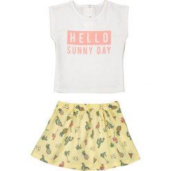 Spódniczki dziewczęce: Komplet dziecięcy: T-shirt i spódniczka, 1 miesiąc – 3 latka
