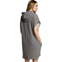 ROSETTA Sukienka z kapturem i kieszeniami - szara. Czarne sukienki mini marki Sinsay, l, z kapturem. Za 119,99 zł.