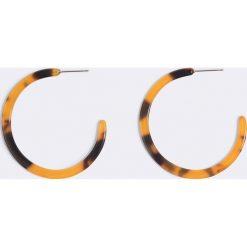 Kolczyki damskie: NA-KD Accessories Okrągłe kolczyki - Brown,Multicolor
