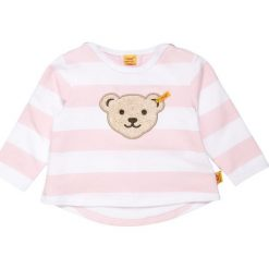 Bluzy dziewczęce: Steiff Collection 1/1 ARM NEWBORN GIRL DOTS & STRIPES BABY Bluza barely pink