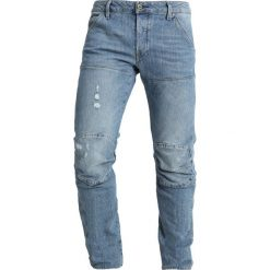 GStar 5620 3D SLIM Jeansy Slim Fit light aged heavy stone. Niebieskie jeansy męskie G-Star, z bawełny. Za 609,00 zł.