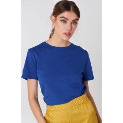 NA-KD Basic T-shirt basic - Blue. Różowe t-shirty damskie marki NA-KD Basic, z bawełny. W wyprzedaży za 37,07 zł.