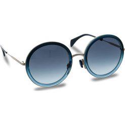 Okulary przeciwsłoneczne damskie aviatory: Okulary przeciwsłoneczne TOMMY HILFIGER - 1474/S Blue Shaded WTA