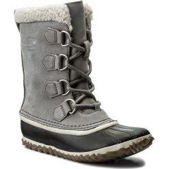 Śniegowce SOREL - Caribou Slim NL2649 Quarry 052. Szare buty zimowe damskie Sorel, z gumy. W wyprzedaży za 339,00 zł.