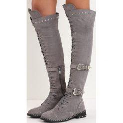 Szare Kozaki Tainted Love. Szare buty zimowe damskie Born2be, przed kolano, na wysokim obcasie, na obcasie. Za 159,99 zł.