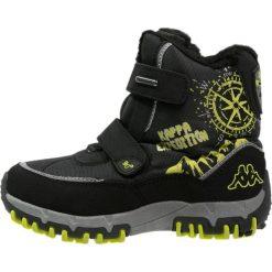 Buty zimowe chłopięce: Kappa DENTON II TEX  Śniegowce black/lime