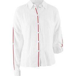 Bluzka z kolekcji Maite Kelly bonprix biały. Białe bluzki z odkrytymi ramionami marki Molly.pl, l, eleganckie. Za 54,99 zł.