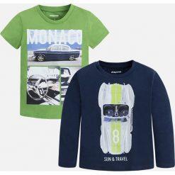 Mayoral - T-shirt + longsleeve dziecięcy 92-134 cm. Szare t-shirty męskie z nadrukiem Mayoral, z bawełny. Za 89,90 zł.