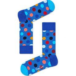 Happy Socks - Skarpety Big Dot. Niebieskie skarpetki męskie marki Quiksilver, z materiału, sportowe. W wyprzedaży za 27,90 zł.