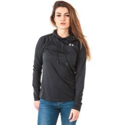 Bluzy sportowe damskie: Under Armour Bluza damska Tech LS Hood 2.0 – Solid czarna r. L (1311502-001)