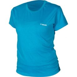 Brugi Koszulka damska T-SHIRT 2HJR 842-BLUETTE niebieska r. L. Niebieskie bluzki asymetryczne Brugi, l. Za 19,99 zł.