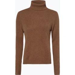 Franco Callegari - Damski sweter z wełny merino, beżowy. Zielone golfy damskie marki Franco Callegari, z napisami. Za 229,95 zł.