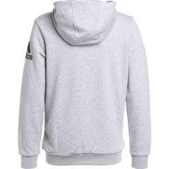 Adidas Performance LOGO HOOD Bluza rozpinana medium grey heather/black. Szare bluzy chłopięce rozpinane marki adidas Performance, z bawełny. W wyprzedaży za 125,30 zł.