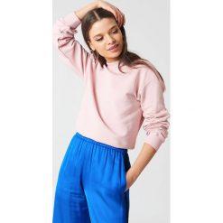 NA-KD Basic Bluza basic - Pink. Różowe bluzy damskie marki NA-KD Basic, prążkowane. Za 100,95 zł.