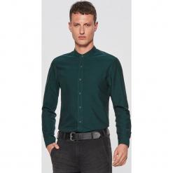 Gładka koszula ze stójką - Khaki. Brązowe koszule męskie na spinki marki Cropp, l, ze stójką. Za 79,99 zł.