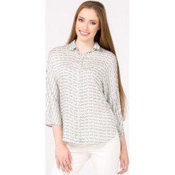 Bluzki asymetryczne: Bluzka koszulowa w zebrę