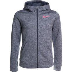 Nike Performance THERMA  Kurtka sportowa thunder blue/heather/racer pink. Szare kurtki dziewczęce marki Nike Performance, z materiału. W wyprzedaży za 131,40 zł.
