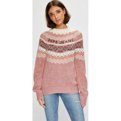 Pepe Jeans - Sweter Alina. Szare swetry klasyczne damskie marki Pepe Jeans, m, z jeansu, z okrągłym kołnierzem. Za 359,90 zł.