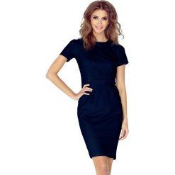 Sukienki: Sukienka Izabella – elegancka – GRANATOWA