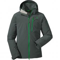 Kurtka funkcyjna w kolorze ciemnozielonym. Zielone kurtki męskie marki Schöffel, m, z aplikacjami. W wyprzedaży za 420,95 zł.