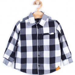 Koszula. Szare koszule chłopięce z długim rękawem marki BOO, z bawełny. Za 39,90 zł.