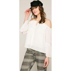 Answear - Bluzka. Szare bluzki z odkrytymi ramionami marki ANSWEAR, l, z dzianiny, casualowe. W wyprzedaży za 39,90 zł.