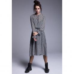 Naoko - Sukienka Harper. Szare długie sukienki marki NAOKO, l, z elastanu, casualowe. Za 219,90 zł.
