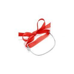 Bransoletka Damska z tasiemką. Czerwone bransoletki damskie na nogę La Tienne, srebrne. Za 129,00 zł.