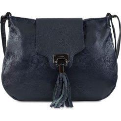 """Torebki klasyczne damskie: Skórzana torebka """"Oriane"""" w kolorze niebieskim – 32 x 24 x 4 cm"""