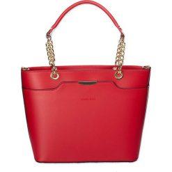 """Torebki klasyczne damskie: Skórzana torebka """"Virginia"""" w kolorze czerwonym – 26 x 37 x 13 cm"""