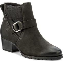 Botki TAMARIS - 1-25030-29 Bottle 789. Czarne buty zimowe damskie Tamaris, z materiału, na obcasie. W wyprzedaży za 279,00 zł.
