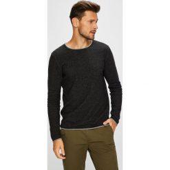 Selected - Sweter. Brązowe swetry klasyczne męskie marki Selected, l, z bawełny, z okrągłym kołnierzem. W wyprzedaży za 99,90 zł.